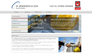 Jenkinson & Sons Builders Website Design, Build, Hosting, SEO by Innaxsys